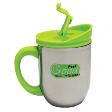 Double Wall Mug Giant with pop Up Lid