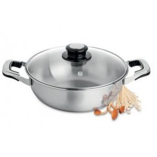 Shabu Pan with glass lid 26cm