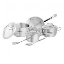 9 Pcs Cookware Set W/Glass Lid-Estio Pro 'EGP-372
