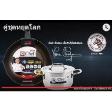 Chef Platinum Plus 28cm Wok and 16cm Pot