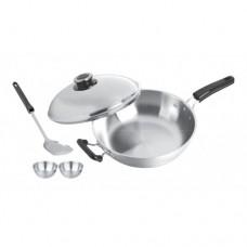 32cm 5 Ply Wok with lid  & 2pcs 9cm bowl